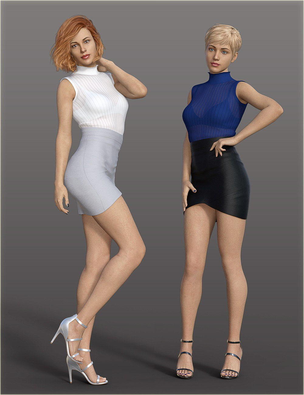 H&C Bandage Mini Skirt Outfit for Genesis 8 Female(s)