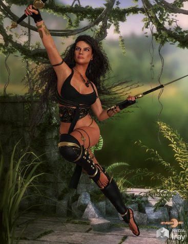 HEROINE - Raging Moon 2 for Genesis 8 Female (s) dForce