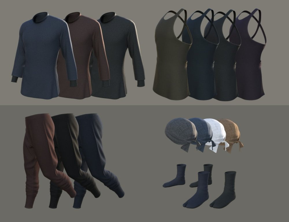 dForce Niwashi Outfit for Genesis 8 Male(s)