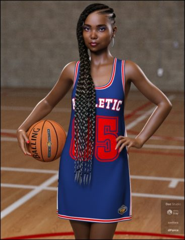 dForce Basketball Dress for Genesis 8 Female