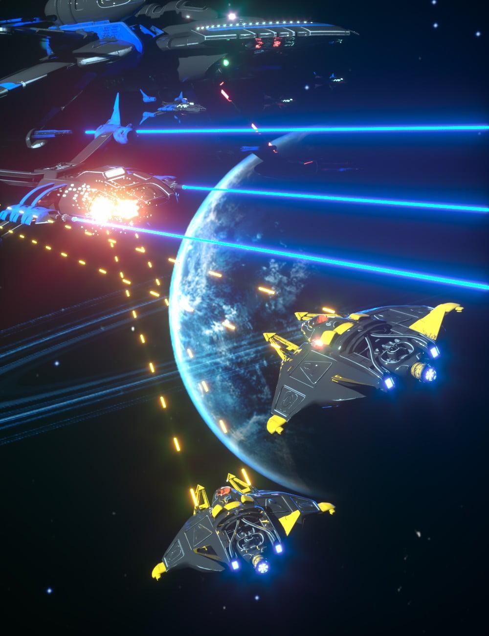 Epic Sci-Fi Starship Battle Kit
