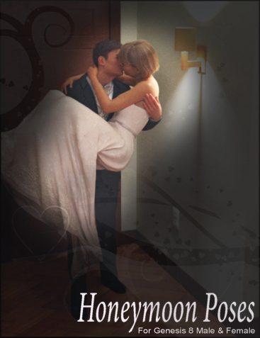 i3D Honeymoon Poses For Genesis 8