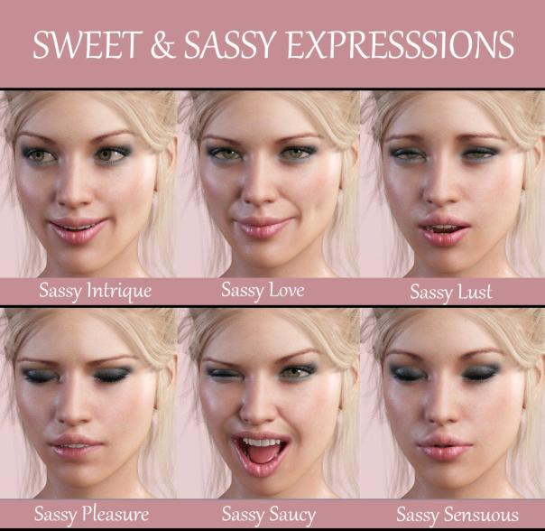 iG Sweet & Sassy Expressions for Genesis 8 Female(s)