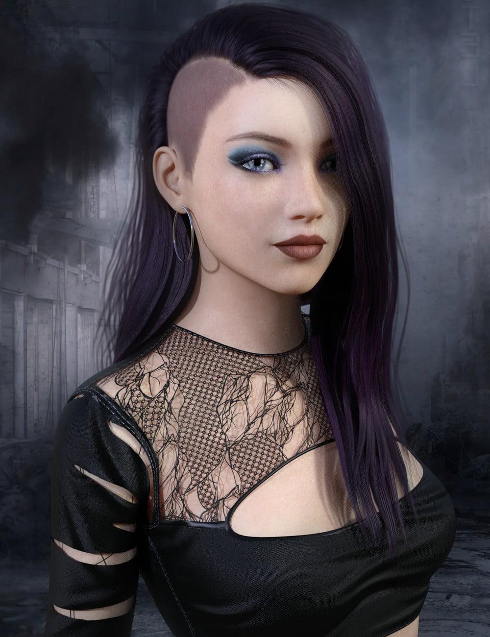 Jett Hair for Genesis 8 Female(s)