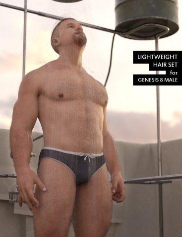 Lightweight Hair Set for Genesis 8 Male