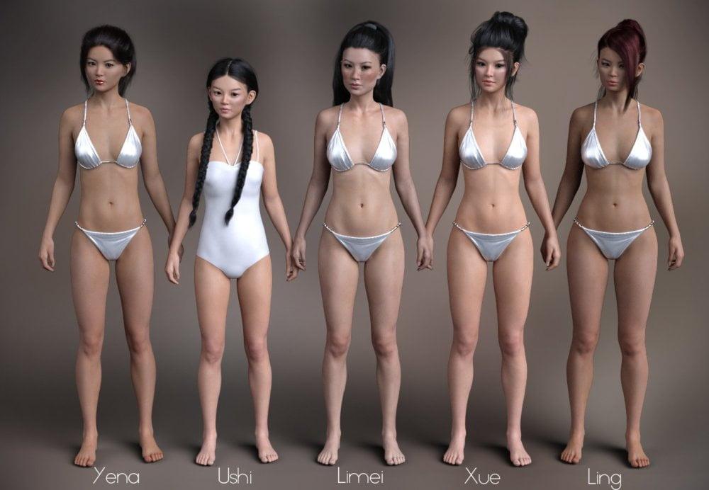 P3D Mei Lin 8 Enhanced Morphs