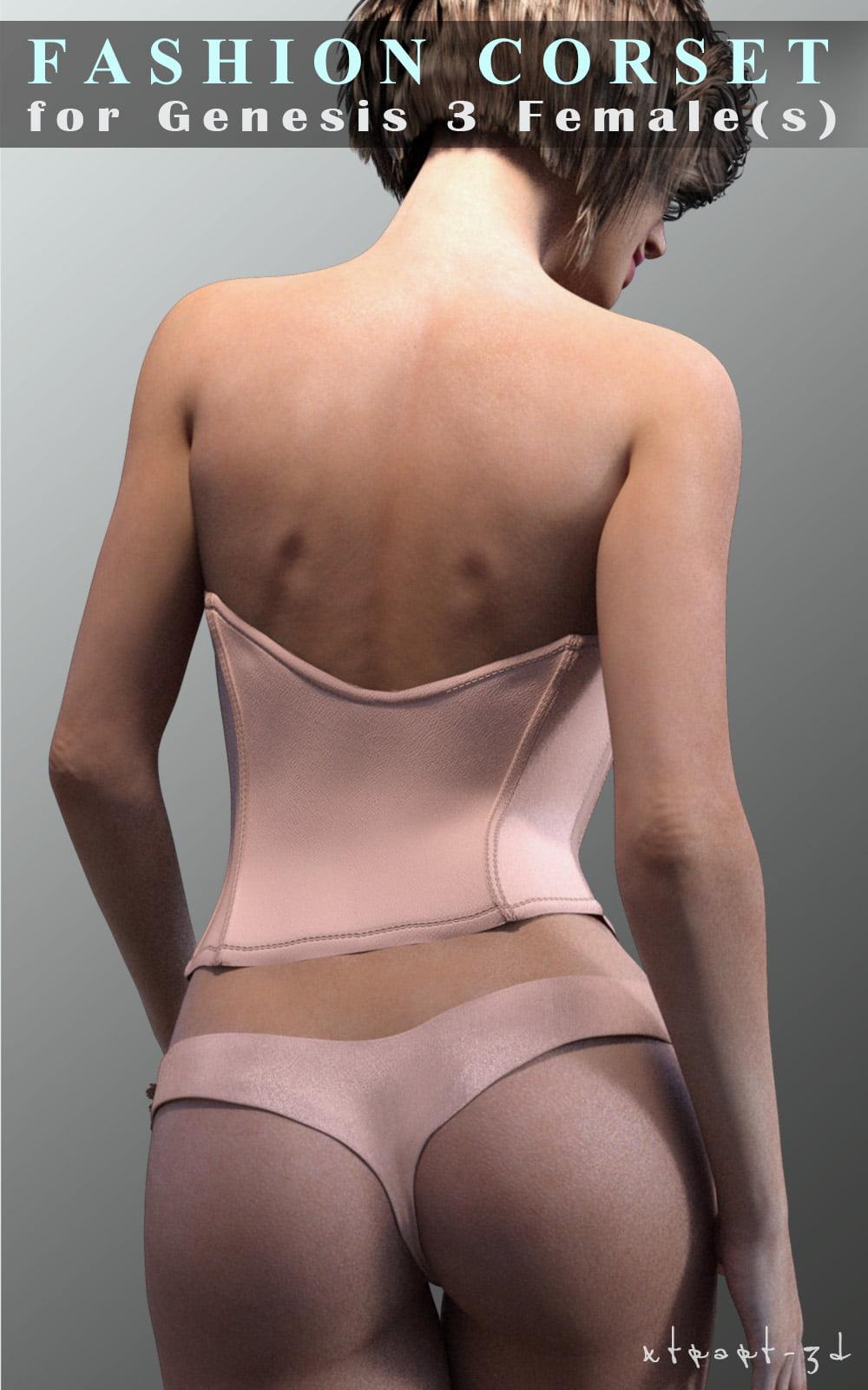 Fashion Corset for Genesis 3 Female