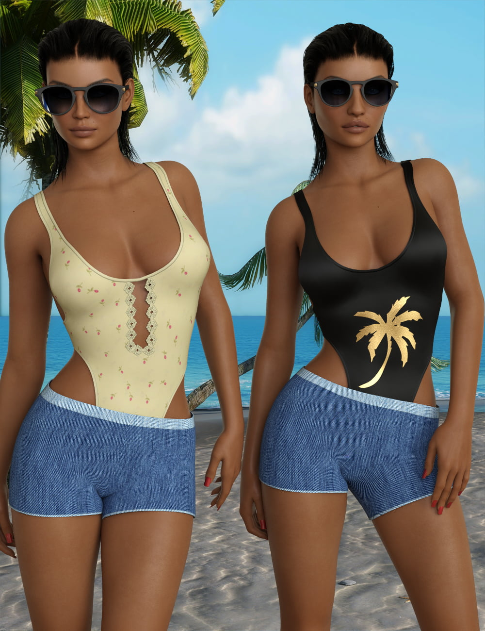InStyle - dForce UltraFine Swimsuit for Genesis 8 Females