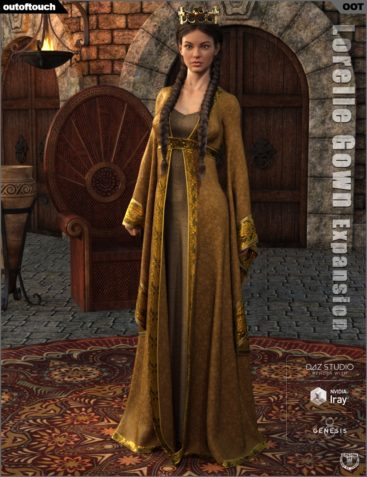 dForce Lorelle Gown Texture Expansion