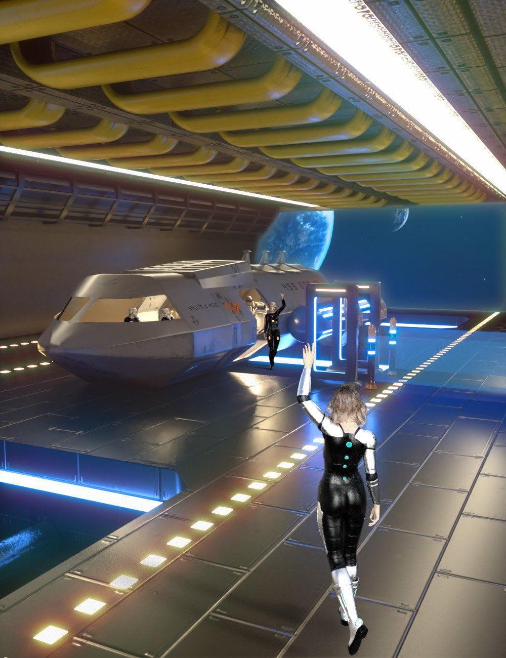 Sci-Fi Starship Shuttle Bay Volume 1