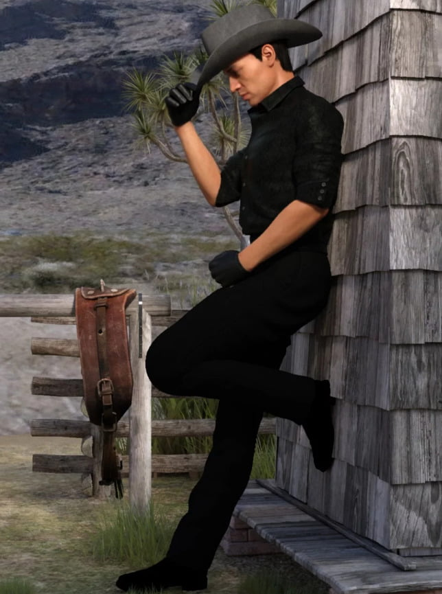 Cow Boy Poses For Genesis 8 Male