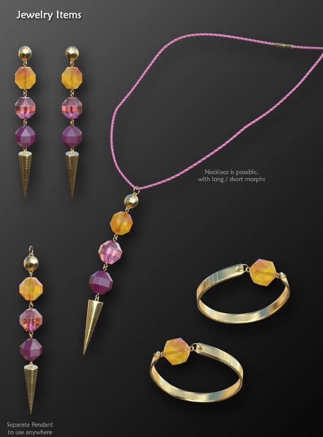 Multi-style Jewelry for Genesis 8 Female(s)