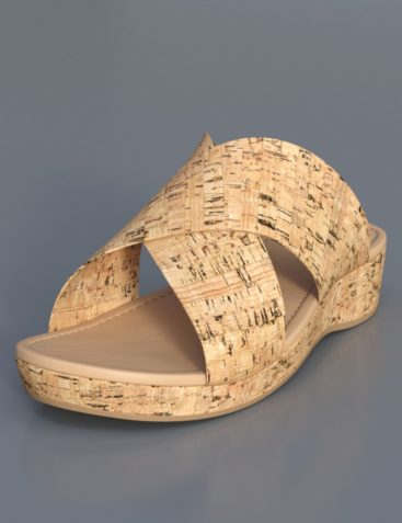 Cork Sandals for Genesis 8 Female(s)