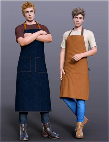 dForce H&C Apron and Casual Outfit for Genesis 8 Male(s)