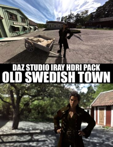 Old Swedish Town - DAZ Studio Iray HDRI Pack