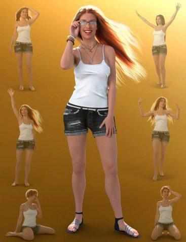 Summer Girl Poses for Babina 8