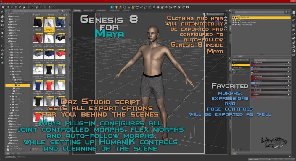 Genesis 8 for Maya