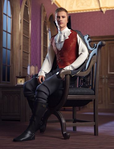 dForce The Count Outfit for Genesis 8 Male(s)