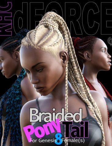 KHC - Braided Pony Tail For Genesis 8 Females