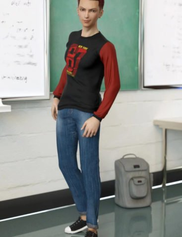 dForce Back To Class for Genesis 8 Male(s)
