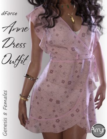dForce Anne Candy Dress Outfit for Genesis 8 Female(s)