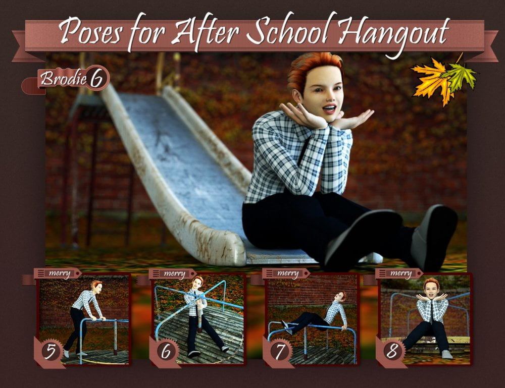 Poses for After School Hangout