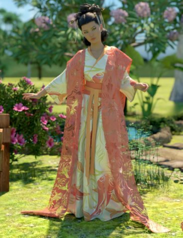 a93 - dForce Fantasy Hanfu for G8F