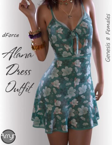 dForce Alana Candy Dress for Genesis 8 Female(s)