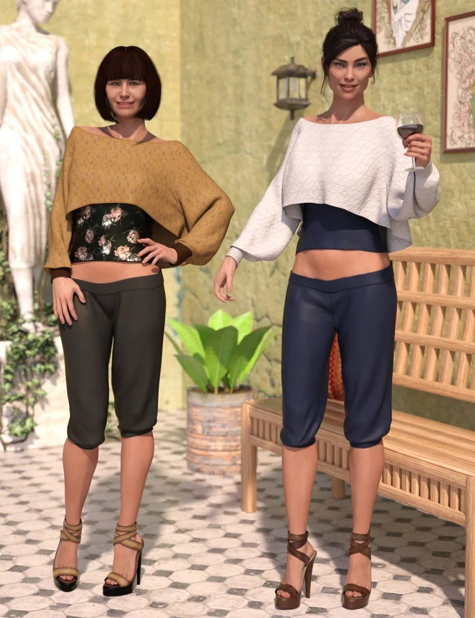 dForce Casual Chic Outfit Textures