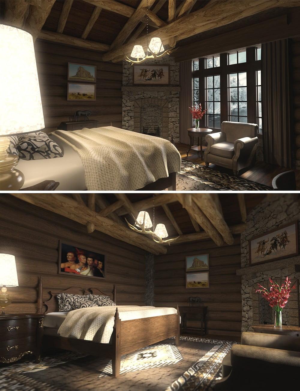 Log House Bedroom