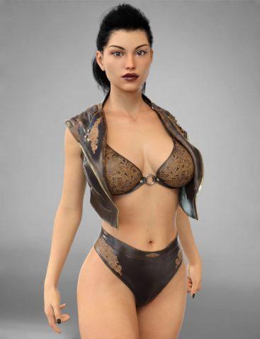 COG Leather Vest and Bikini for Genesis 8 Female(s)