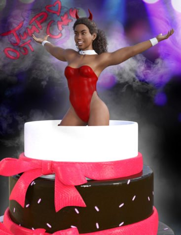 JumpOut Cake and Animations for Genesis 3 Male and Female