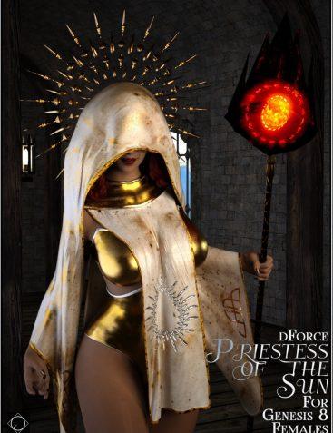 dforce Priestess of the Sun for Genesis 8 Females