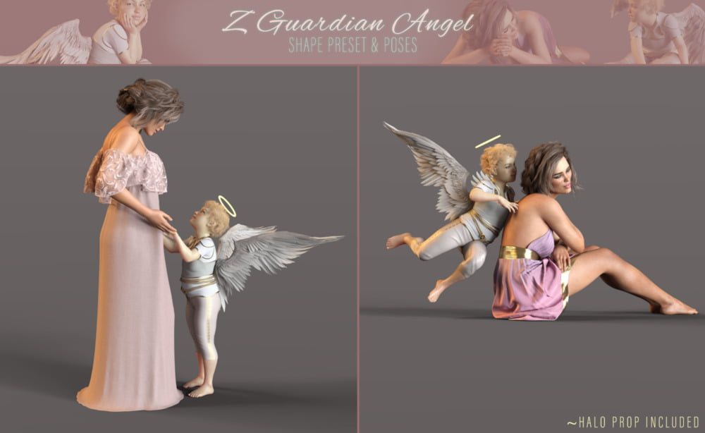 Z Guardian Angel Shape and Poses for Genesis 8 Female