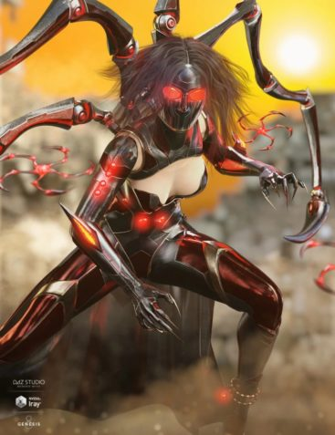 dForce Spidertech Outfit for Genesis 8 Female(s)