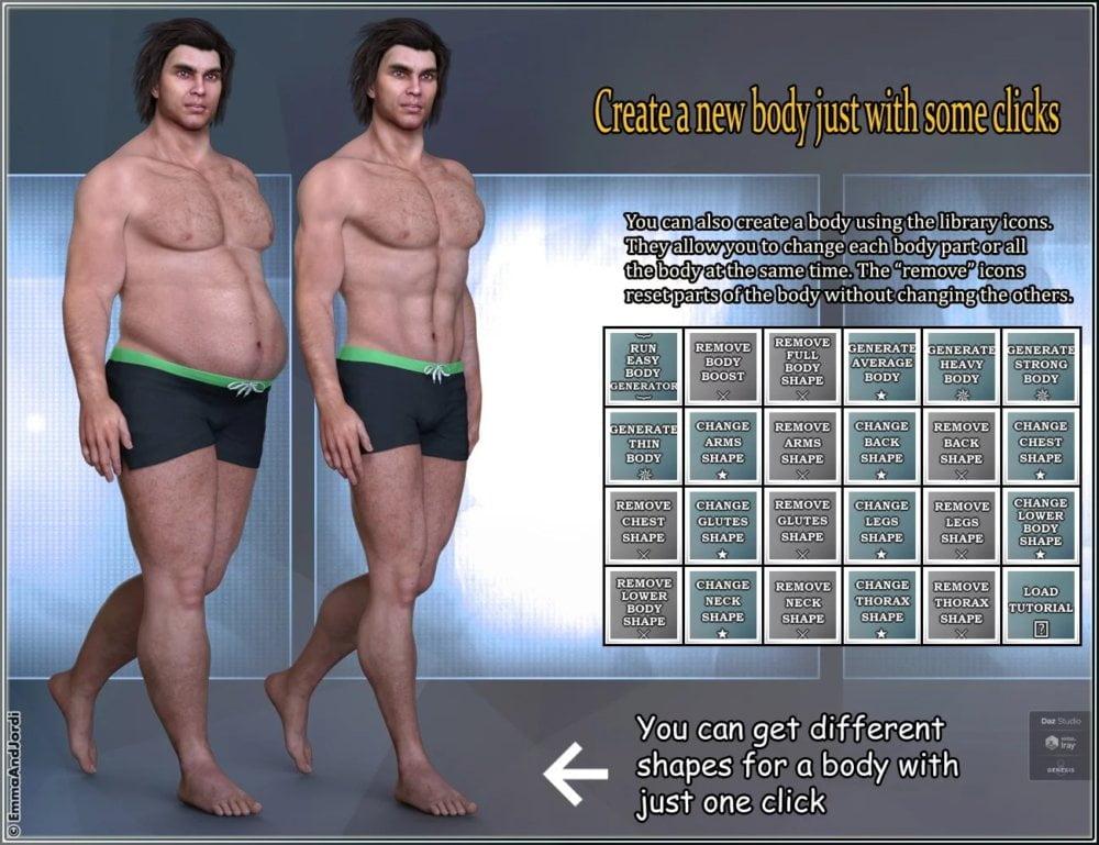 EJ Easy Body Generator For Genesis 8 Male(s)