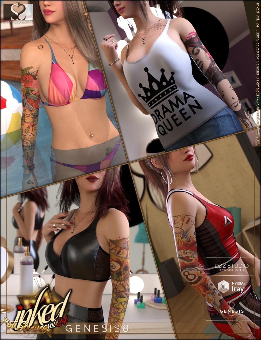 Inked Vol.24: Just Sleeves for Genesis 8 Female(s)