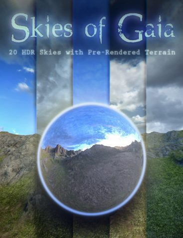 Skies of Gaia - 20 8k HDRI Skies with Pre-Rendered Terrain for Iray