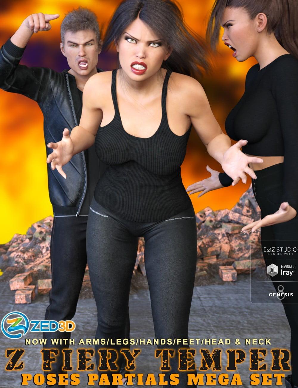 Z Fiery Temper Pose Mega Set