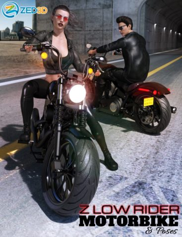 Z Low Rider Motorbike and Poses