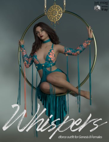 Whispers dForce outfit for Genesis 8 Females