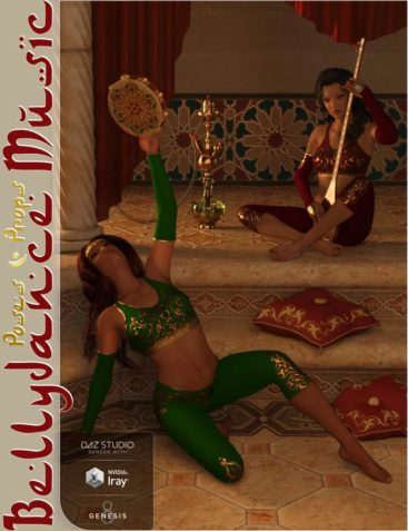 Bellydance Music Poses and Props for Genesis 8 Female(s)