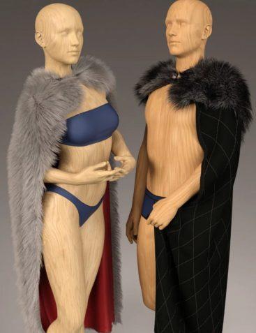 dForce Classic Fur Cape for Genesis 8 0