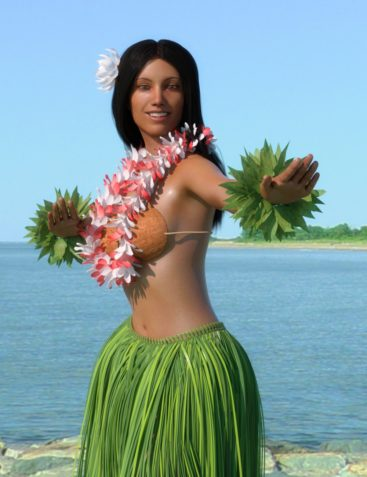 dForce Hula Outfit and Pose Set for Genesis 8 Female(s)