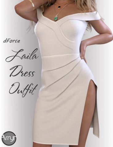 dForce Laila Cocktail Dress Outfit for Genesis 8 Female(s)