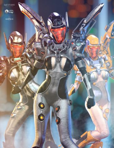 dForce Mech Dancer Outfit Extra Iray Textures