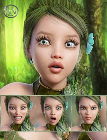Fairytale - Expressions for Genesis 8 Female and Rynne 8