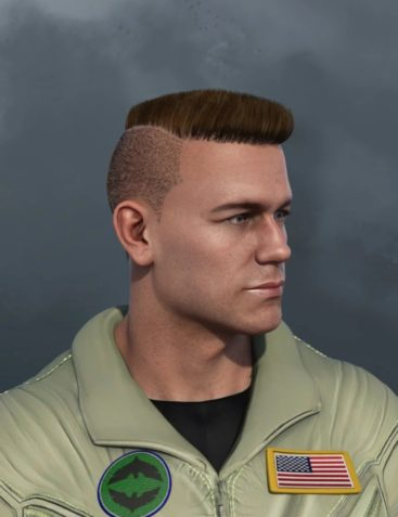 Military Cut Style dForce Hair for Dain 8 and Genesis 8 Male(s)