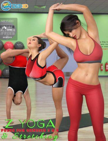Z Yoga and Stretching Pose Mega Set