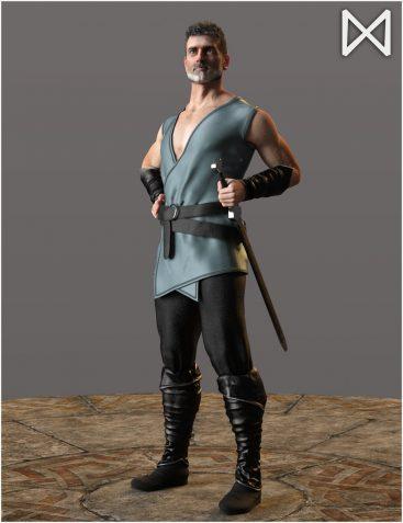 Fantasy Sword Belt for Genesis 8 Male